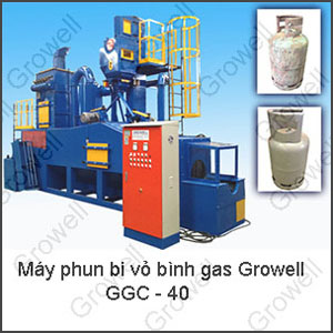 Máy phun bi vỏ bình gas Growell - GGC 40