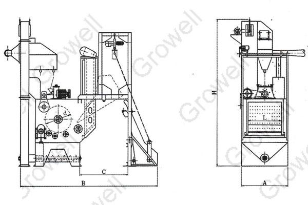 Thông số máy phun bi thùng đảo Growell