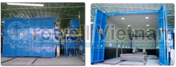 Nhà phun bi khí nén được lắp đặt tại Hưng Yên