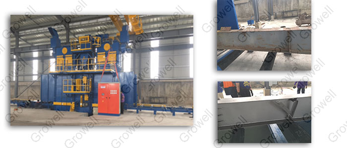 máy phun bi dạng kết cấu thép