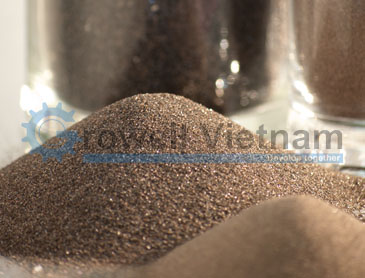 Brown aluminum oxide - One of the common abrasive sand