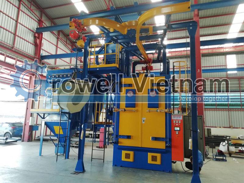 Máy phun bi dạng treo Growell Việt Nam