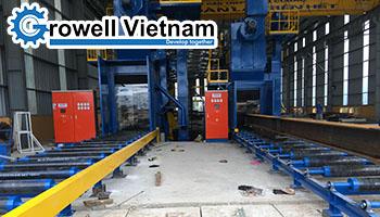 Máy phun bi kết cấu thép tại Công ty CP Cơ khí xây lắp Thương mại Minh Cường
