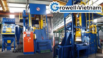 Growell lắp đặt Máy phun bi thùng đảo GW41 tại Công ty TNHH Anh Minh
