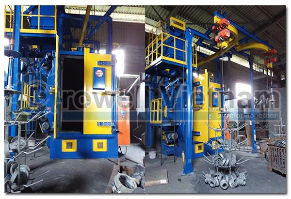 Máy phun bi dạng treo Growell được lắp đặt tại Công ty CP Cơ khí đúc gang Thanh Sơn