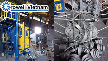 Máy phun bi dạng treo cho ngành đúc tại Công ty CP cơ khí đúc gang Thanh Sơn