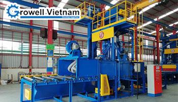 Schindler Việt Nam lựa chọn máy phun bi làm sạch thang máy Growell