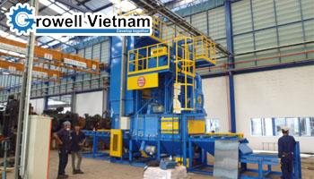 Máy phun bi làm sạch bề mặt kết cấu thép tại Bắc Ninh