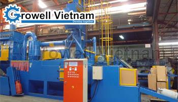 Dự án Máy phun bi làm sạch vỏ bình gas tại Gia Lâm - Hà Nội