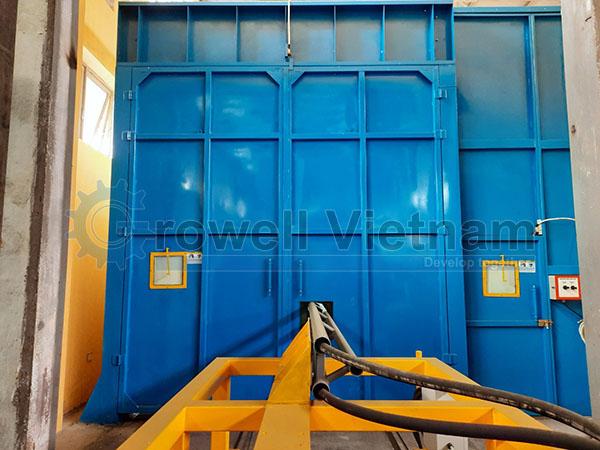 Buồng phun cát làm sạch Growell Model GBS-1016-4S