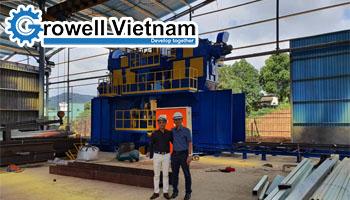 Bàn giao Máy phun bi dạng băng tải cho Khách Hàng tại Đà Nẵng