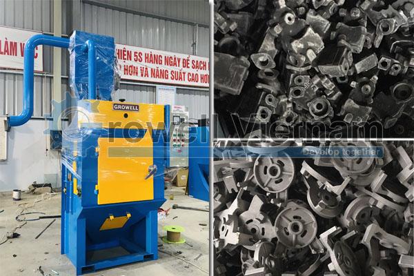 Máy làm sạch khuôn đúc - Máy phun bi thùng đảo GW10