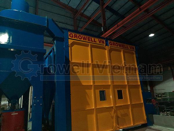 Hệ thống phun cát Growell tại nhà máy khách hàng TP HCM