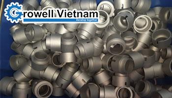 Máy phun bi làm sạch chi tiết đúc tại Bắc Giang