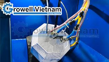 Bàn giao hệ thống Máy phun cát lồng xoay tại Bắc Giang