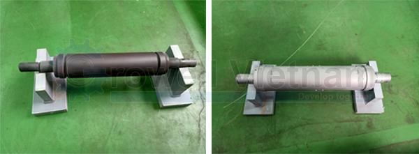 Sản phẩm trước và sau khi phun bằng Tủ phun cát áp lực cao