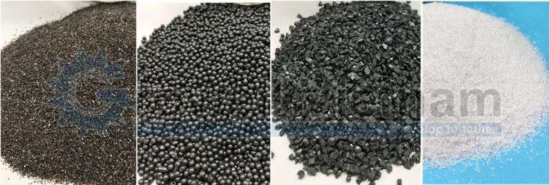 Tái sử dụng hạt mài - cát kỹ thuật trong tủ phun cát