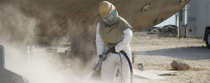 Bụi phát sinh trong quá trình phun cát