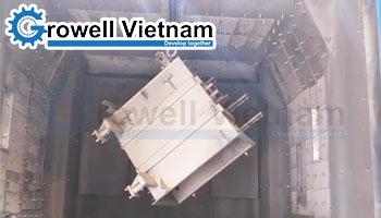 Máy phun bi làm sạch vỏ máy biến áp GHRE-2420-6BD