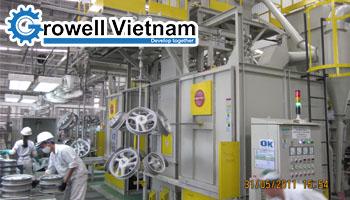 Máy phun bi tự động Growell - Hệ thống làm sạch hiện đại